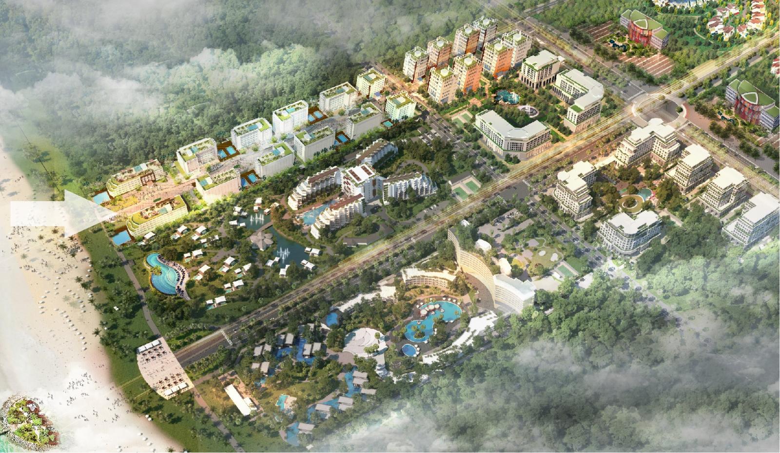 Phối cảnh tổng thể dự án Milton Pathway