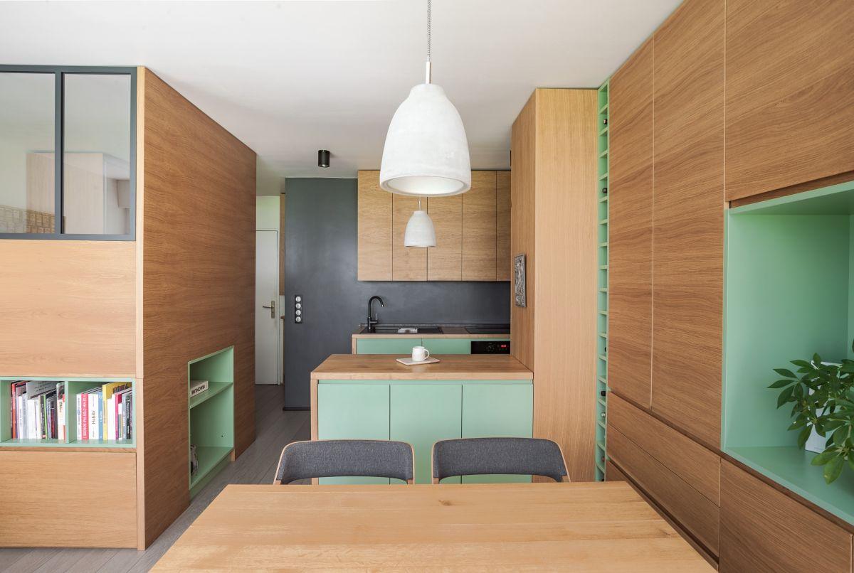 không gian nội thất trong căn hộ nhỏ