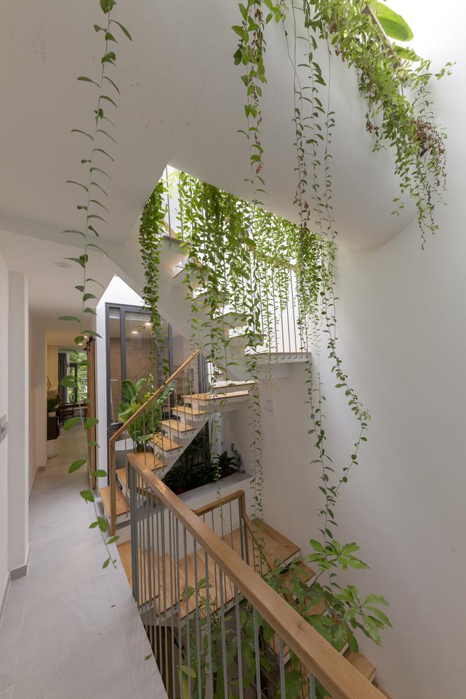 cầu thang kết nối các tầng