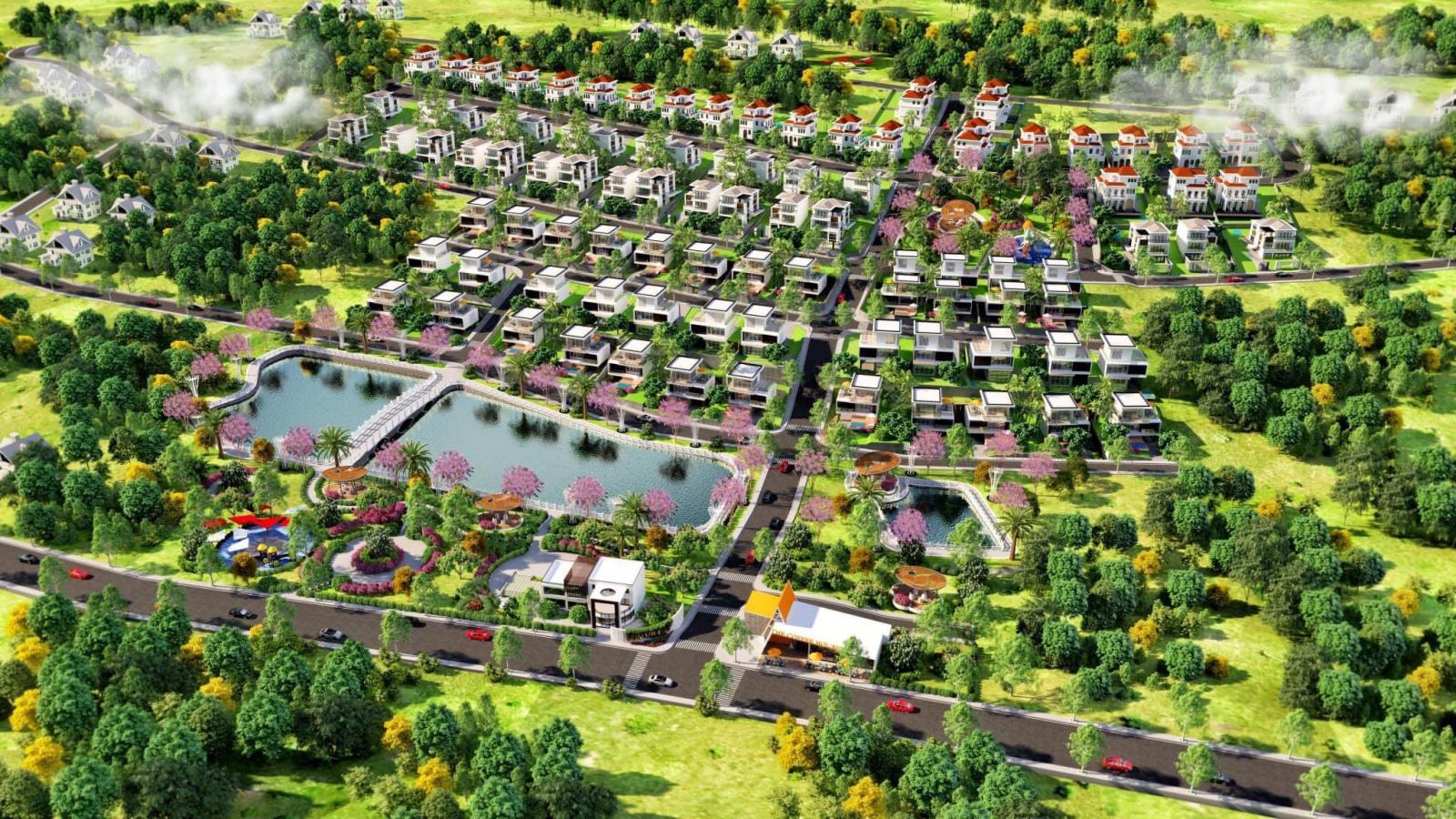 Phối cảnh tổng thể dự án Bảo Lộc Sun Valley