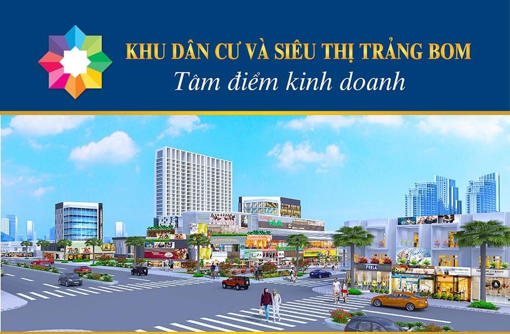 Phối cảnh dự án Khu dân cư và siêu thị Trảng Bom