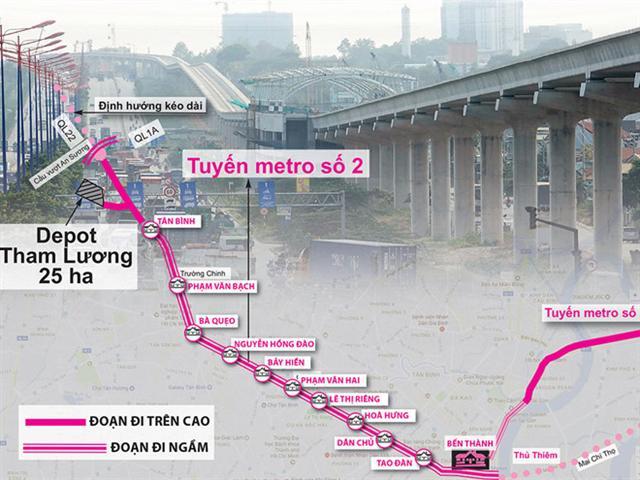 sơ đồ tuyến metro Bến Thành - Tham Lương