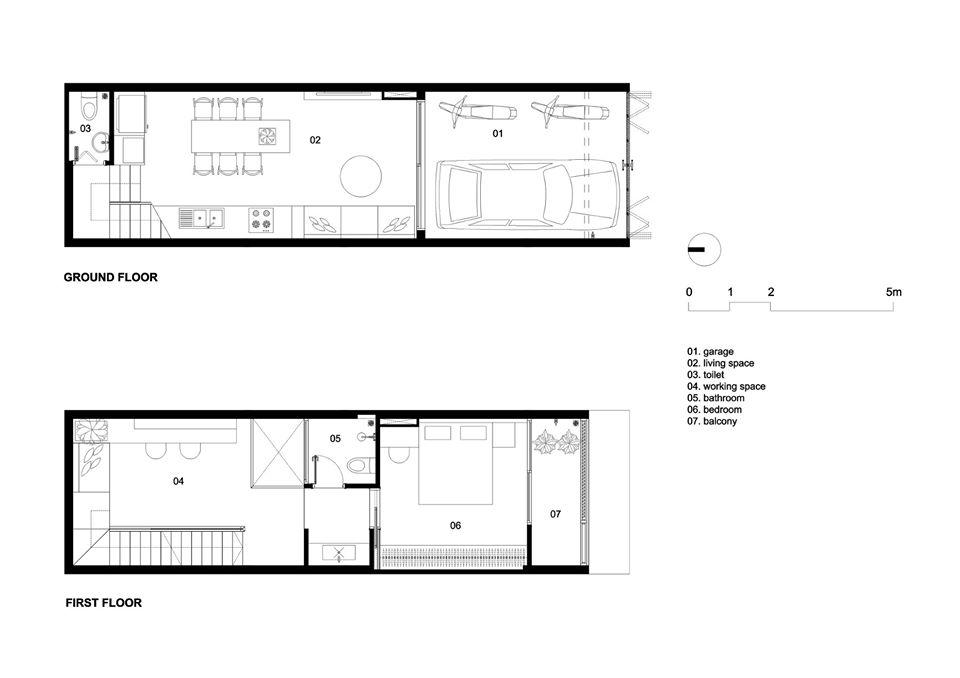 mặt tầng tầng trệt và lầu 1