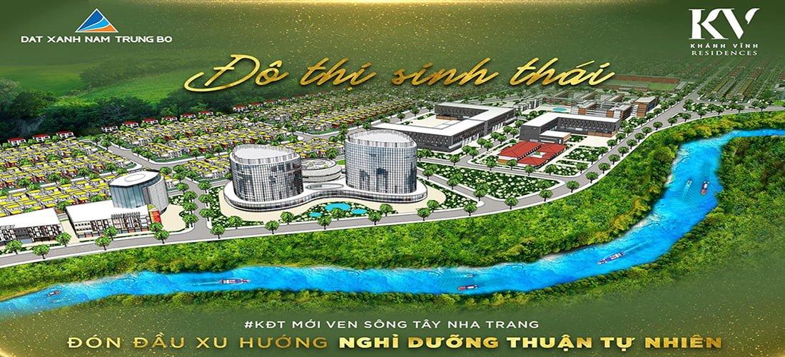 Phối cảnh tổng thể dự án Khu đô thị Khánh Vĩnh