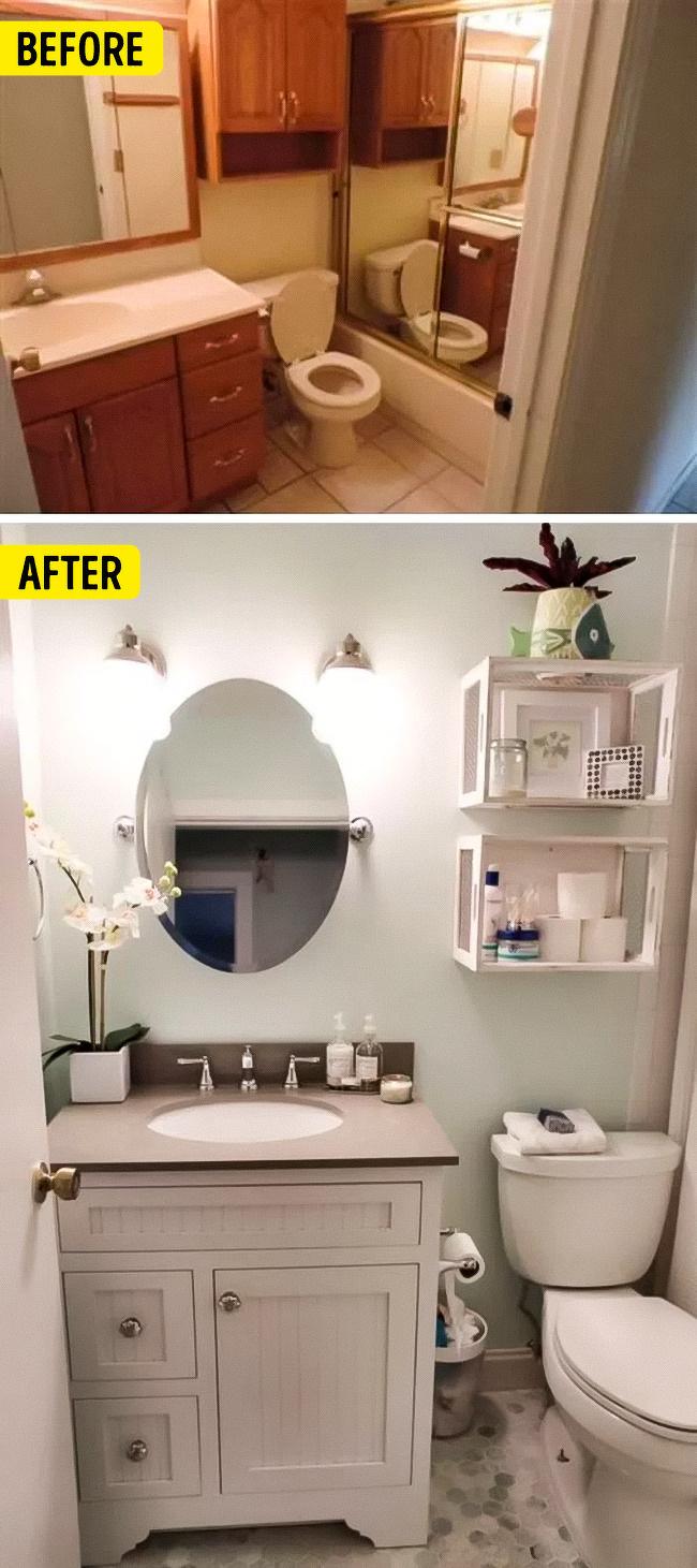 13 ý tưởng thiết kế thông minh giúp tối ưu hóa phòng tắm nhỏ