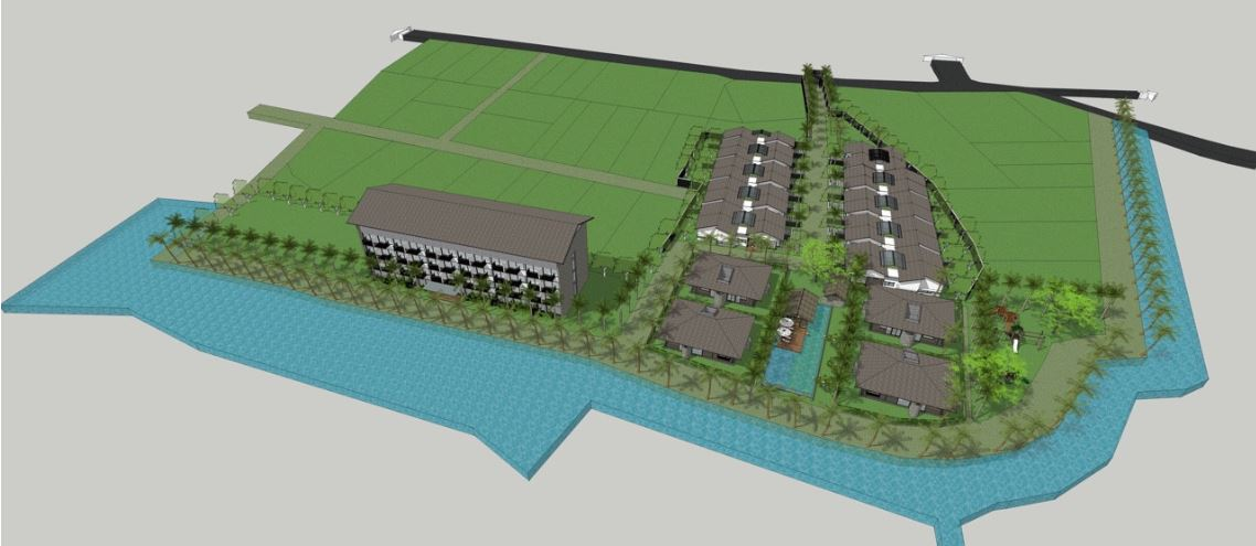 Phối cảnh tổng thể dự án Happy Garden Hồ Tràm