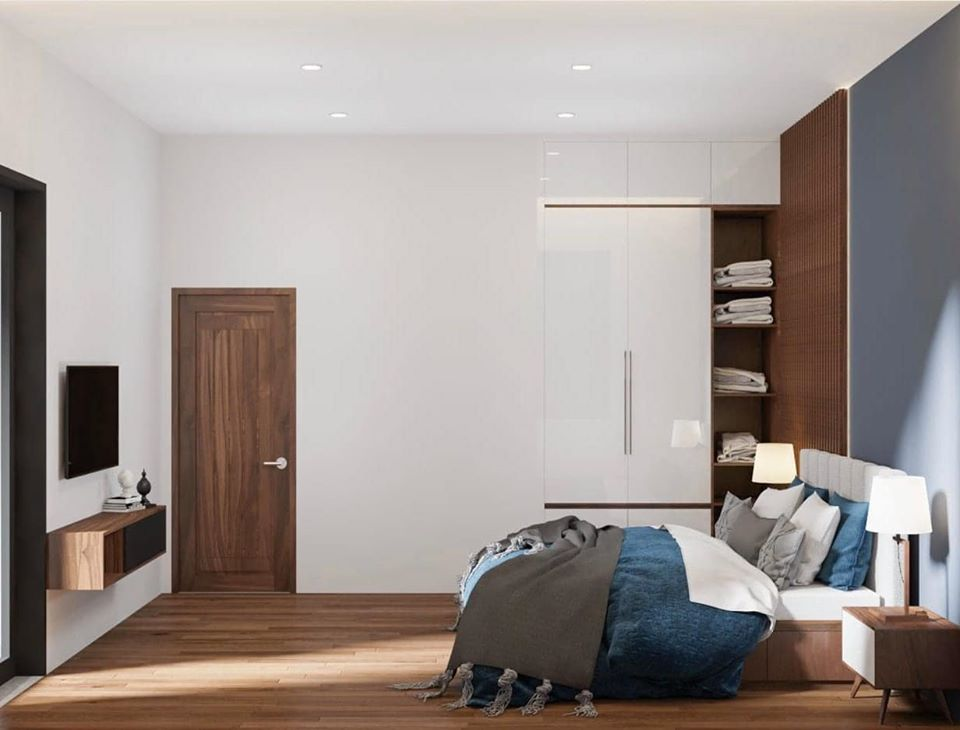 hệ tủ âm tường trong phòng ngủ