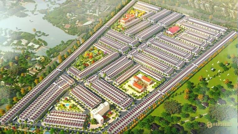 Phối cảnh tổng thể dự án Khu đô thị Phương Trường An 6