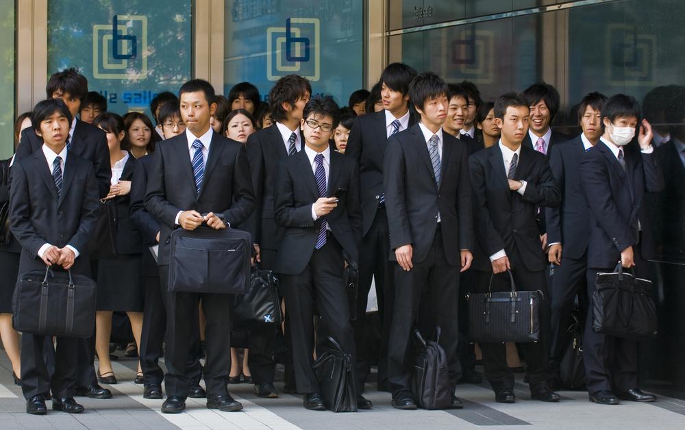 Office workers in Tokyo, Japan