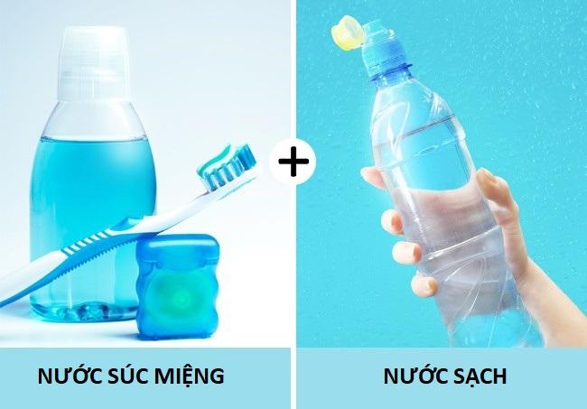 nước súc miệng và nước sạch