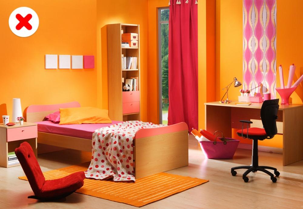 phòng ngủ màu sắc sống động