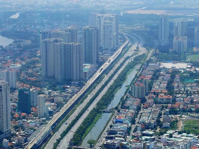 nhiều tòa nhà cao tầng