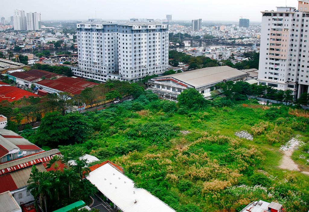 hình ảnh bãi đất trống, tòa nhà chung cư