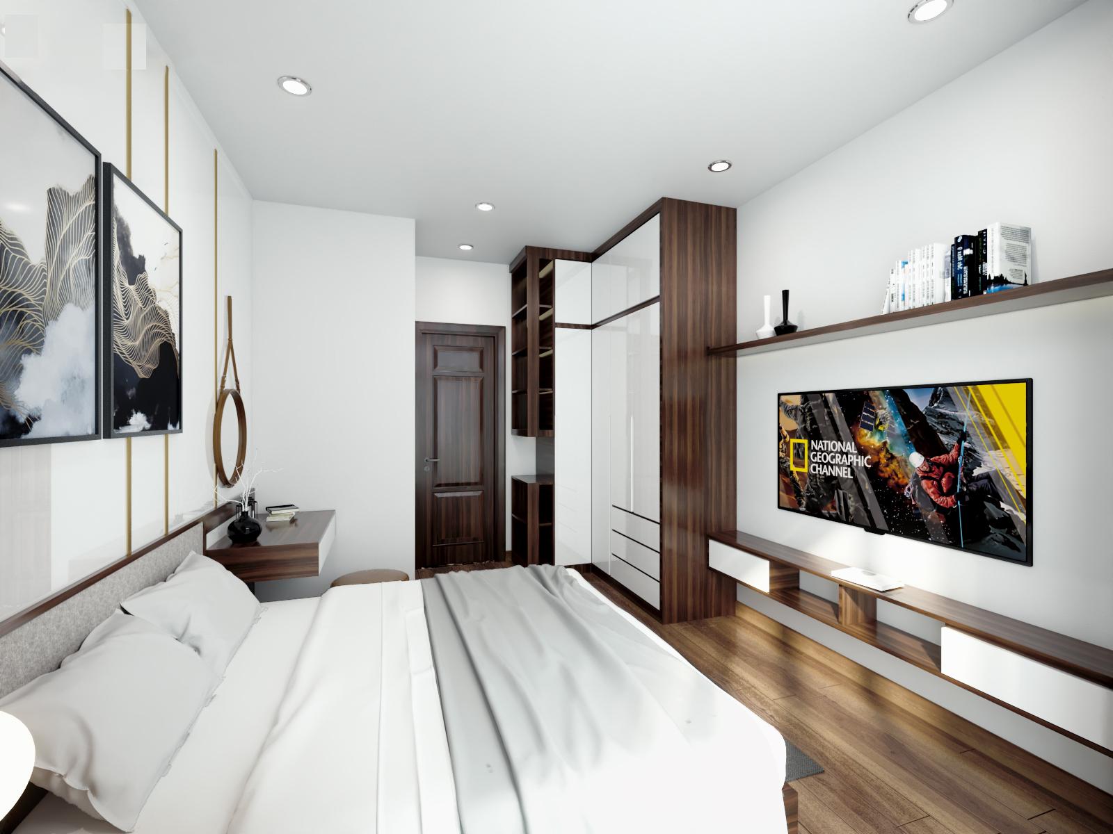 nội thất gỗ trong phòng ngủ