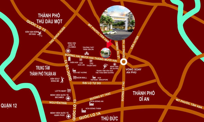 Vị trí dự án Làng chuyên gia Phú Uy Khang