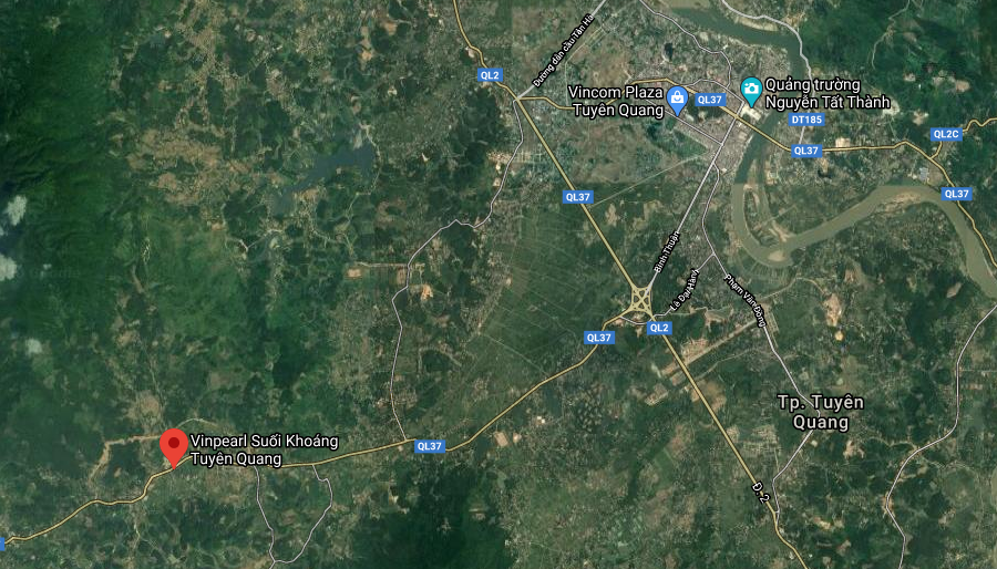 Vị trí dự án Vinpearl Tuyên Quang