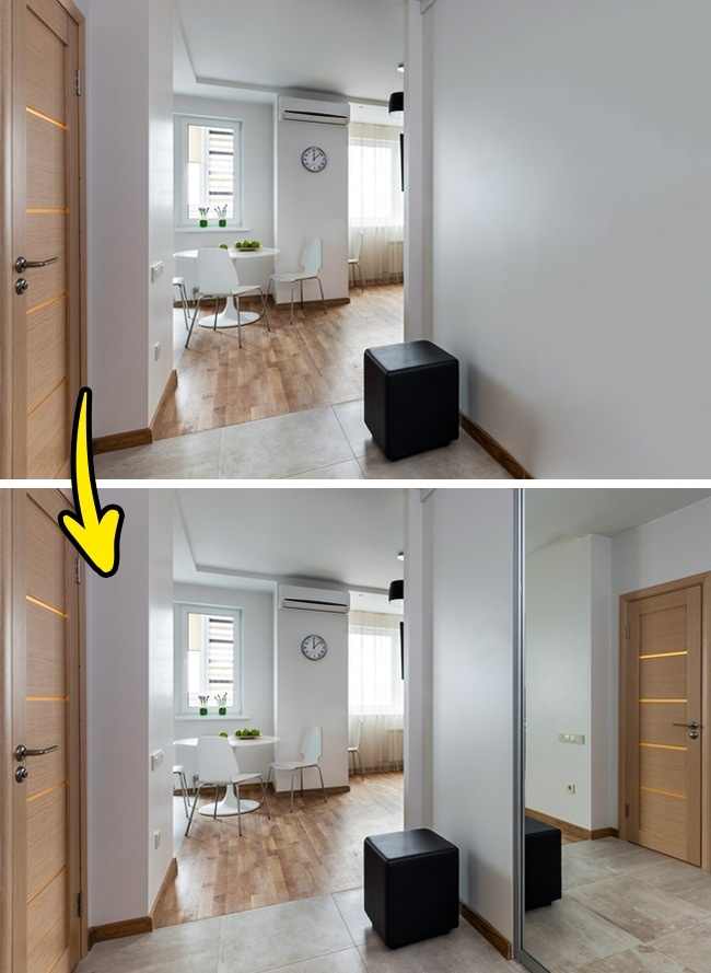 đặt gương trong phòng