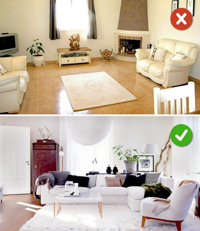 thảm trong phòng khách