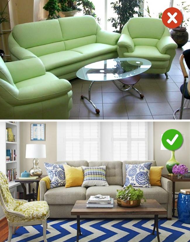 sofa kiểu truyền thống và hiện đại