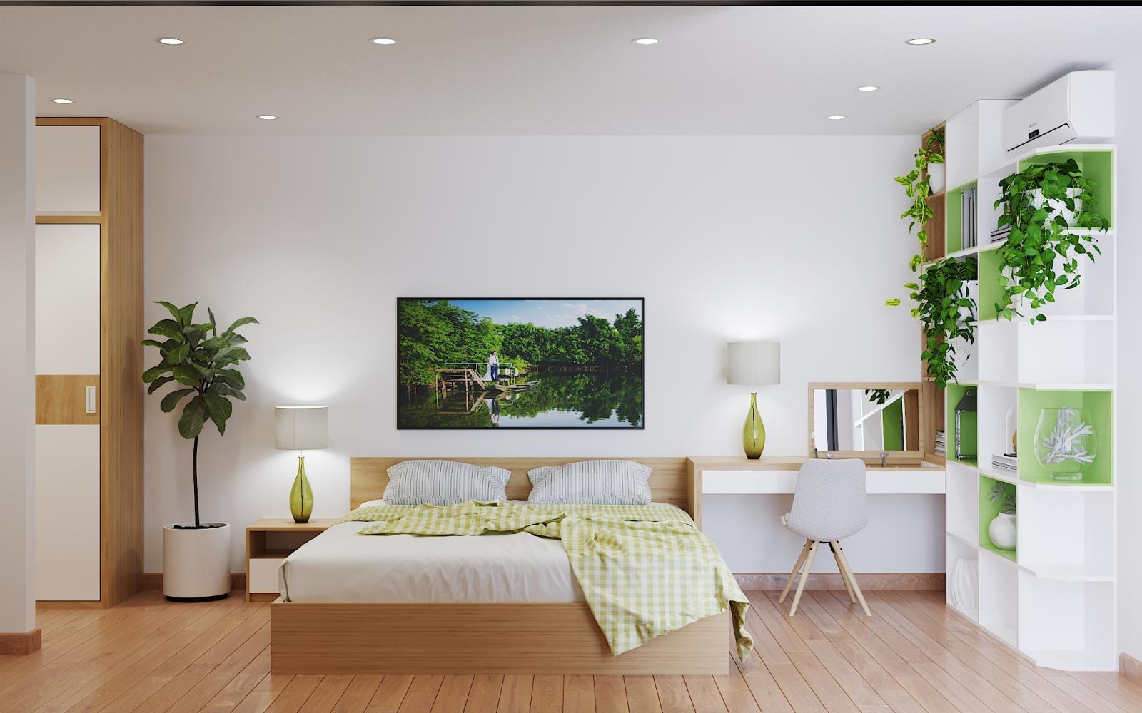 cây xanh trong phòng