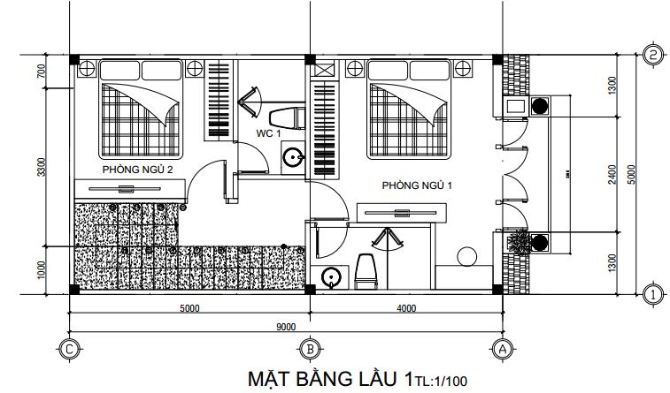 Mặt bằng thiết kế nhà mái Thái