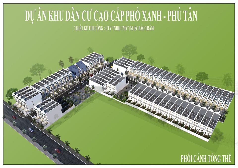 Phối cảnh tổng thể dự án Khu dân cư Phố Xanh - Phú Tân