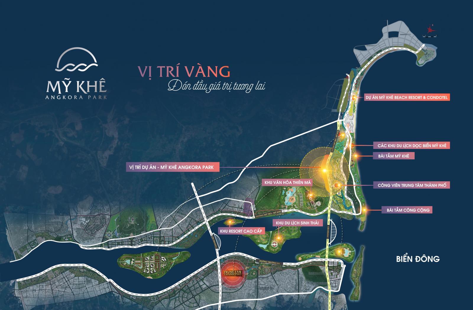 Vị trí dự án Mỹ Khê Angkora Park