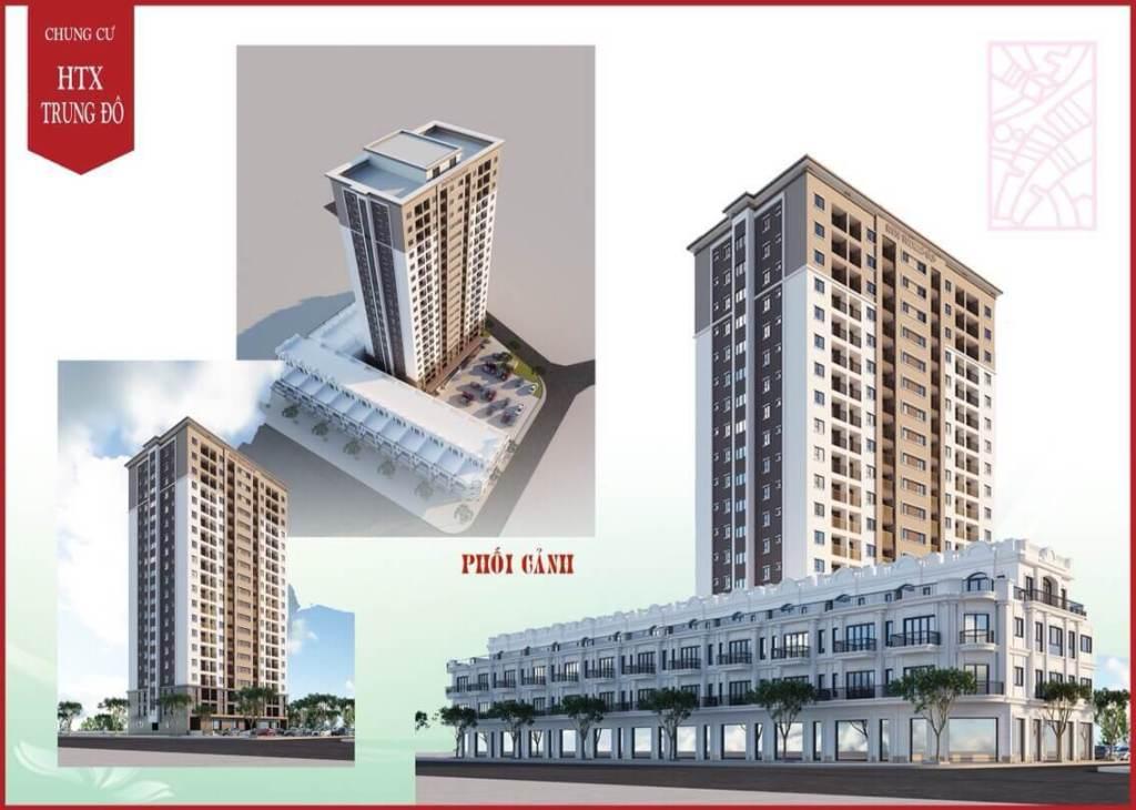 Phối cảnh tổng thể dự án Chung cư HTX Trung Đô