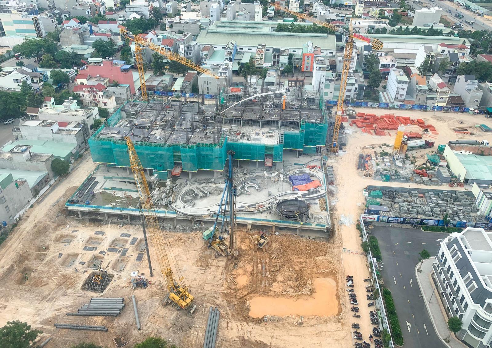 Công trường xây dựng một dự án