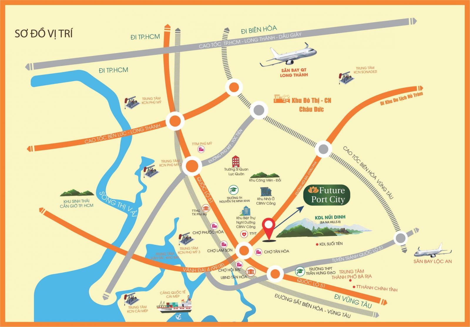 Vị trí dự án Future Port City trên bản đồ