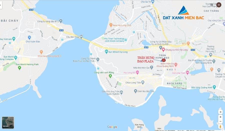 Vị trí dự án Trần Hưng Đạo Plaza trên bản đồ