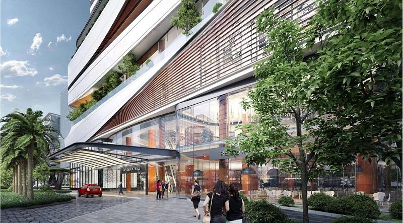 Khu thương mại của dự án Chung cư Han Jardin
