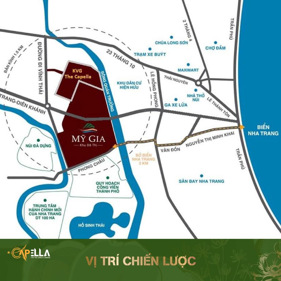 Vị trí dự án KVG The Capella Nha Trang