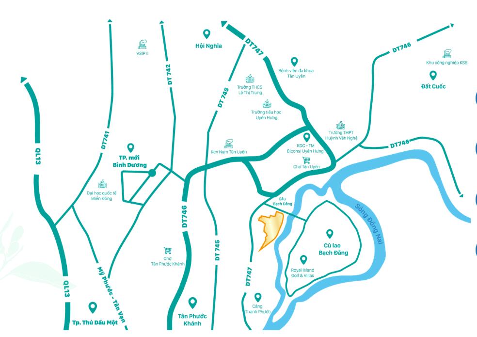 Vị trí dự án Khu nhà ở Biconsi Riverside trên bản đồ