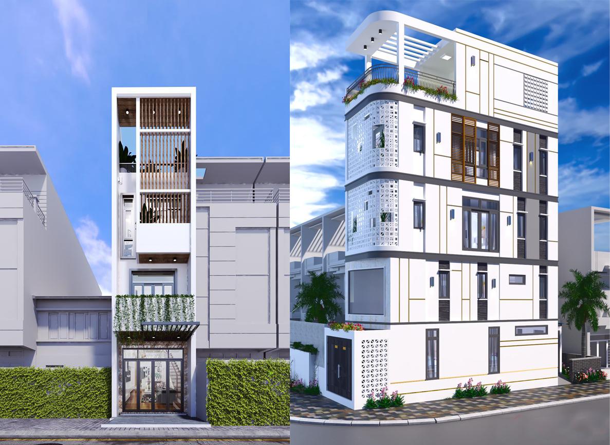 Hai mẫu thiết kế nhà phố