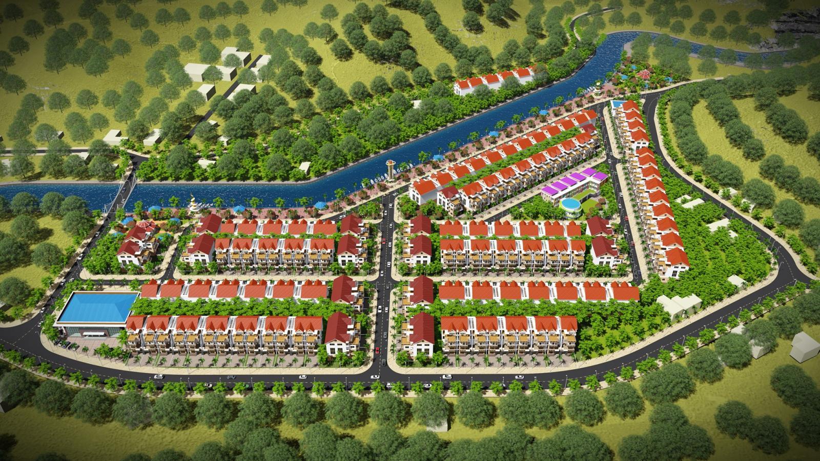 Phối cảnh tổng thể dự án Khu dân cư Bến Sơn Yên Lập