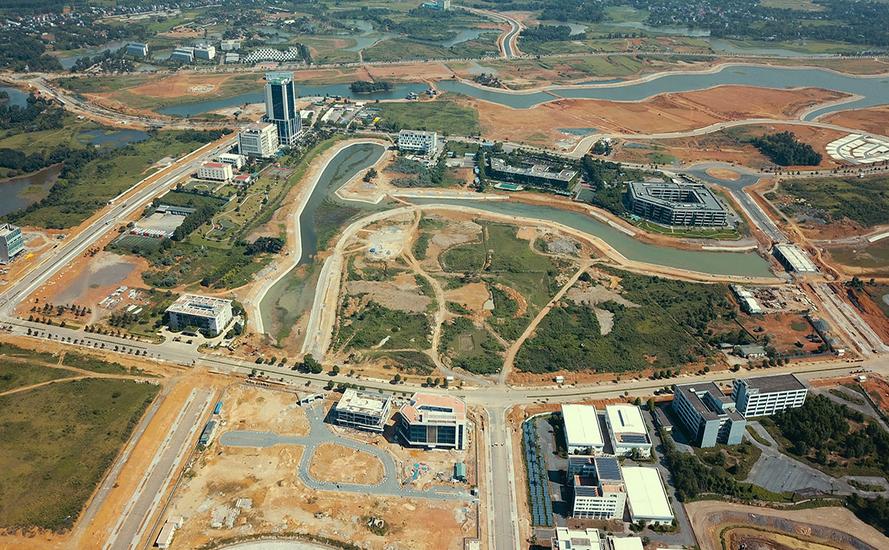 khu đất quy hoạch xây đô thị nhìn từ trên cao
