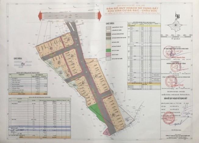 Bản vẽ dự án KDC Đá Bạc tại huyện Châu Đức (Bà Rịa - Vũng Tàu)