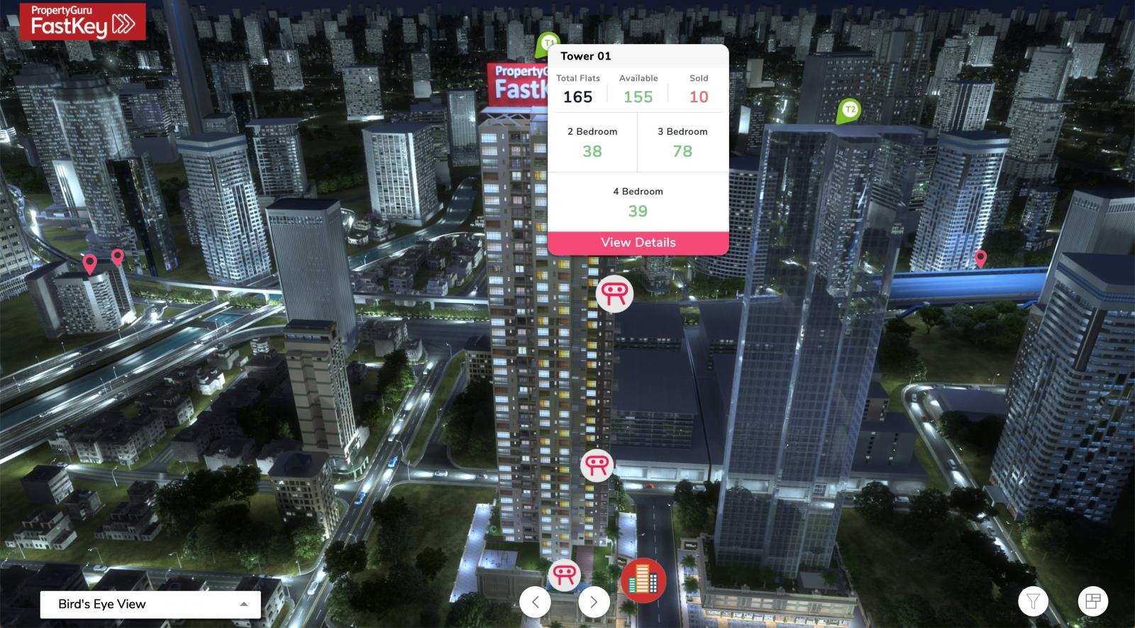 Interface of PropertyGuru FastKey platform