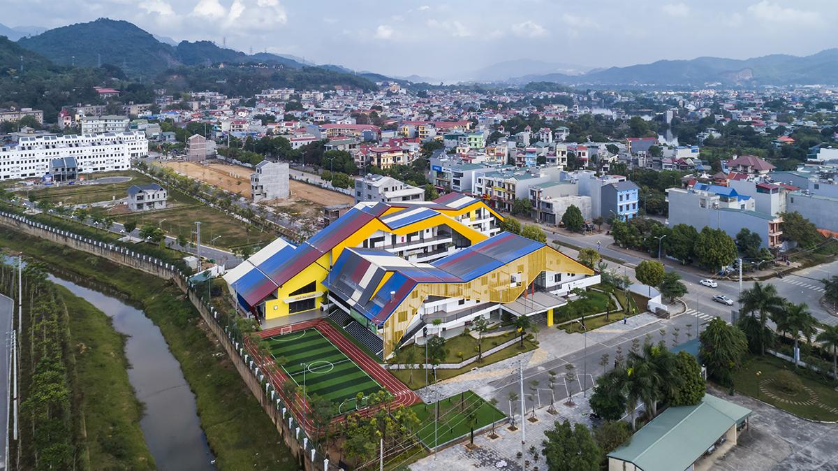 Công trình trường học kiến trúc đẹp mắt ở Hòa Bình