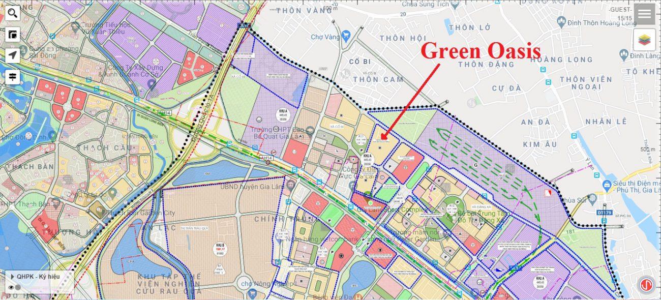 Vị trí dự án Green Oasis Cổ Bi