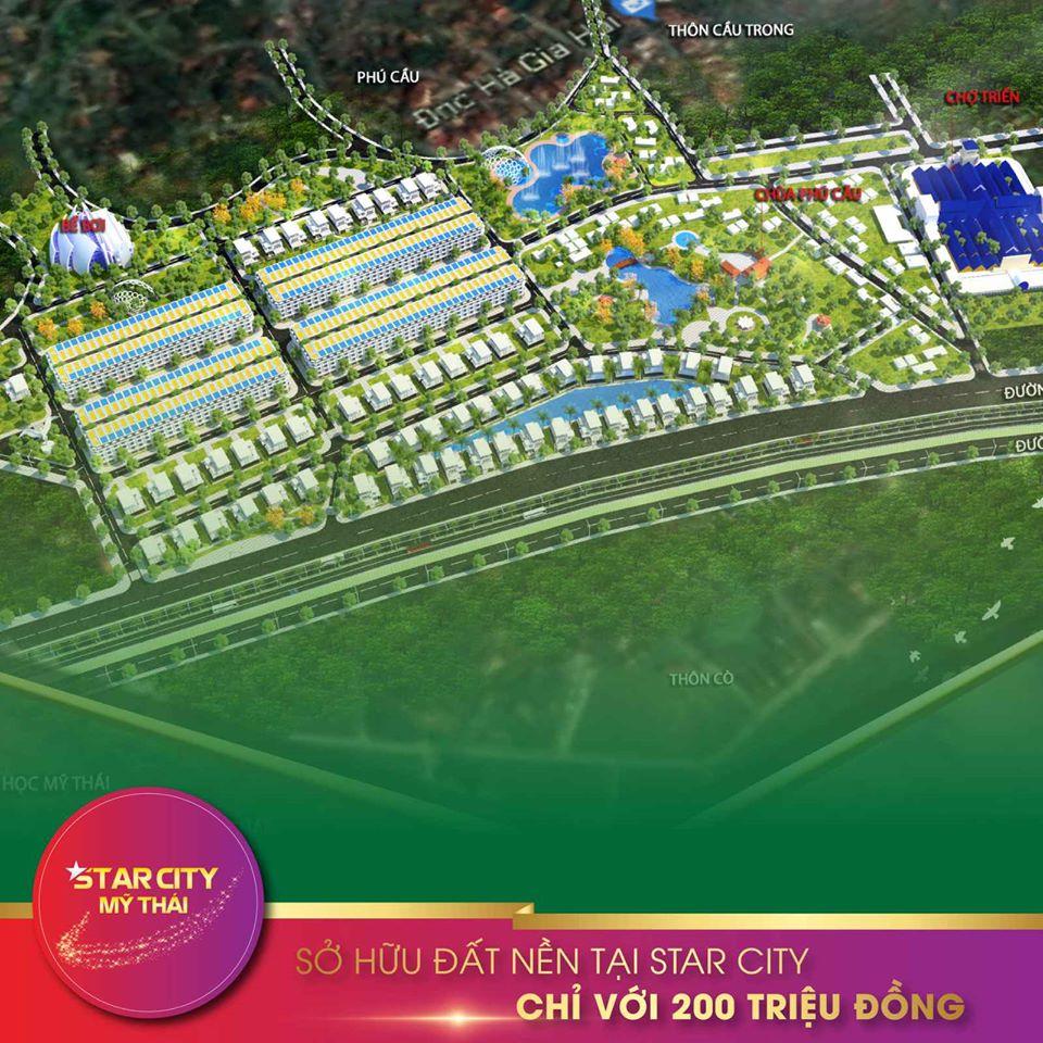 Phối cảnh tổng thể dự án Star City Mỹ Thái