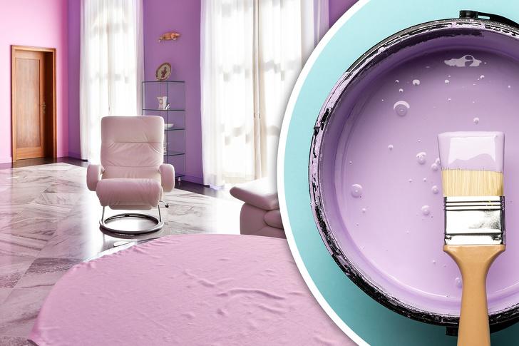 Phòng học màu tím lilac