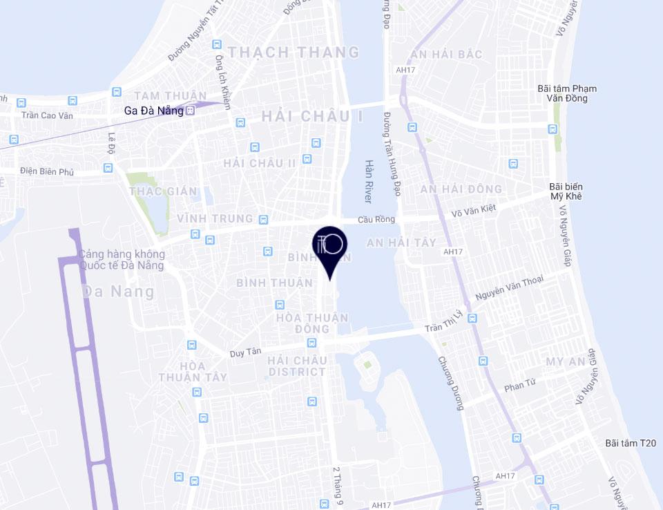 Vị trí dự án The Royal Đà Nẵng Boutique Hotel & Condo