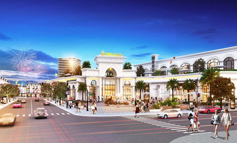 Phối cảnh trung tâm thương mại Victory Galaxy của dự án Victory City.