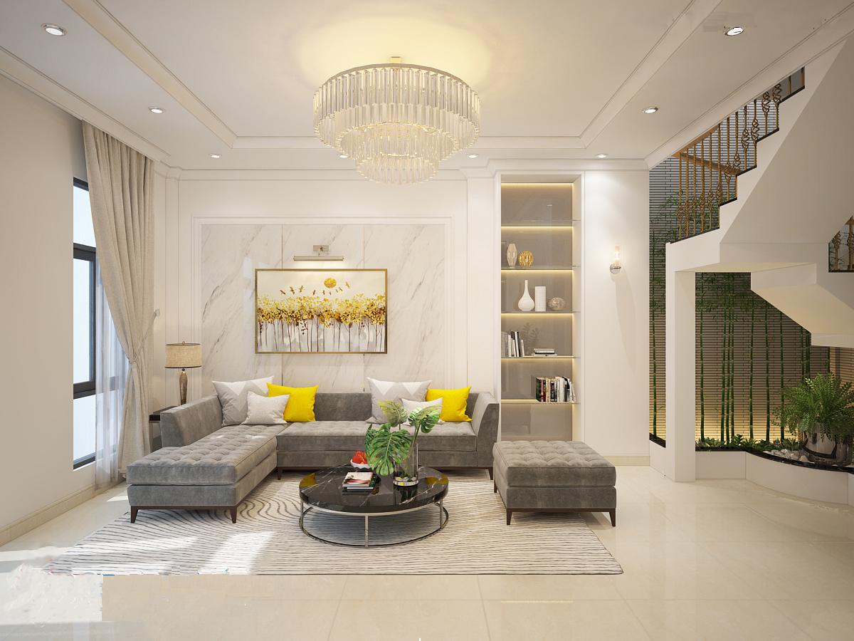 Thiết kế nội thất phòng khách diện tích lớn