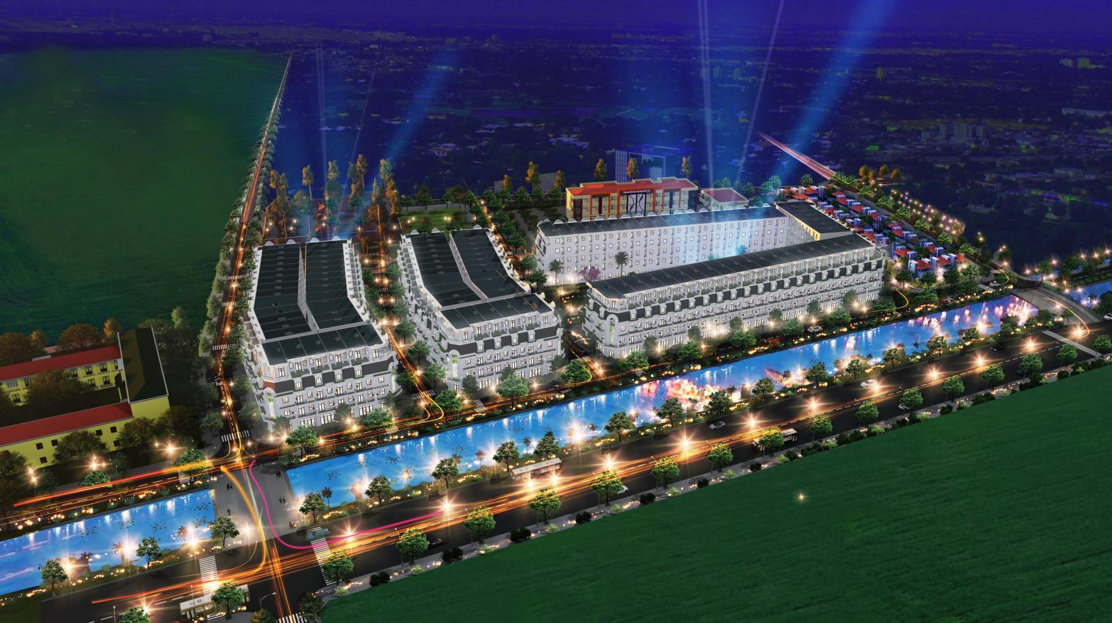 Phối cảnh tổng thể dự án Khu đô thị QLC Yên Phong