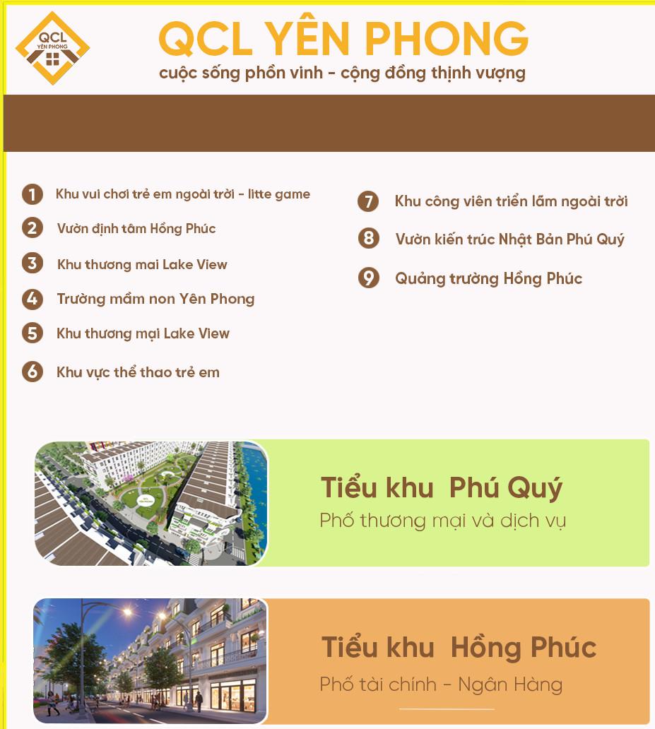 Hệ thống tiện ích nội khu dự án QLC Yên Phong