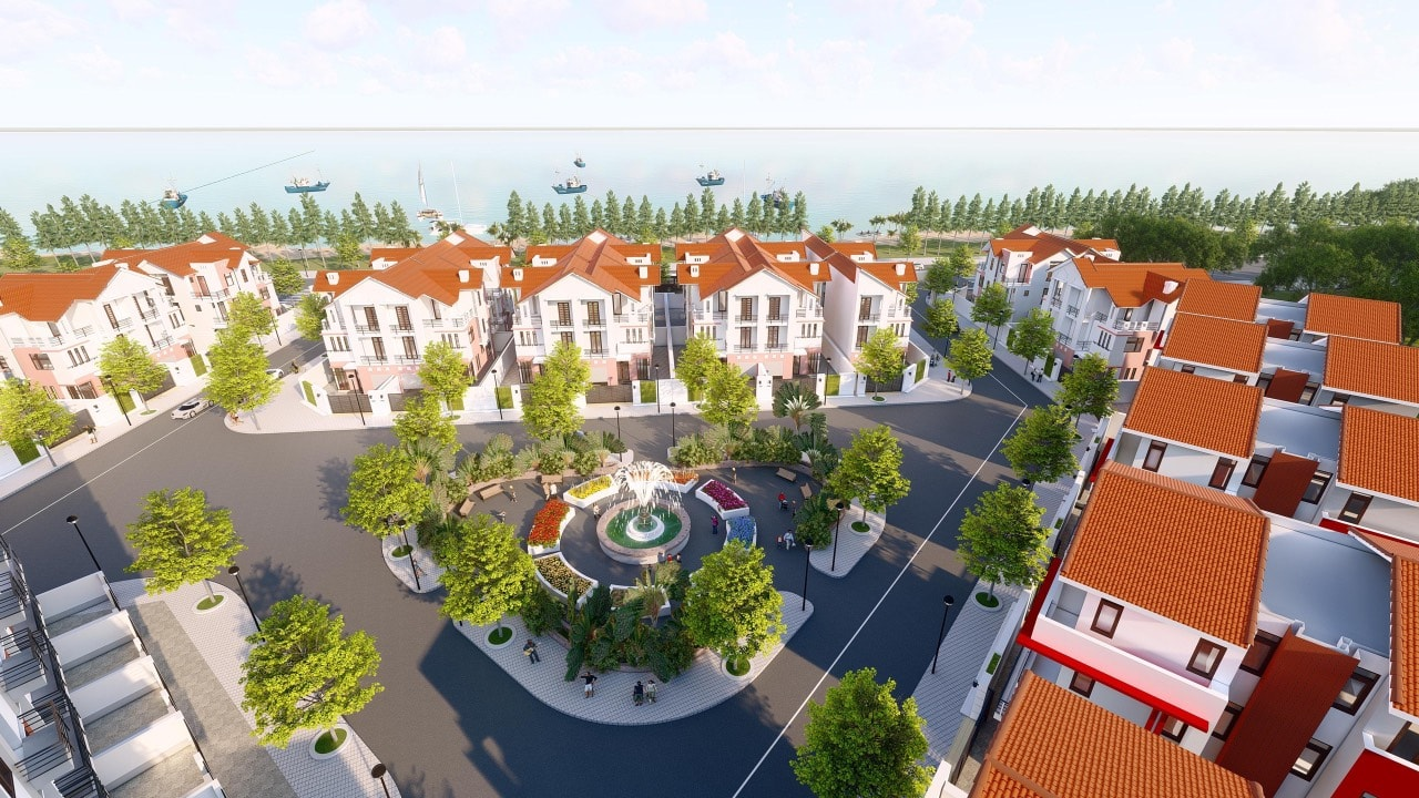 Phối cảnh tổng thể dự án Vụng Hương Resort