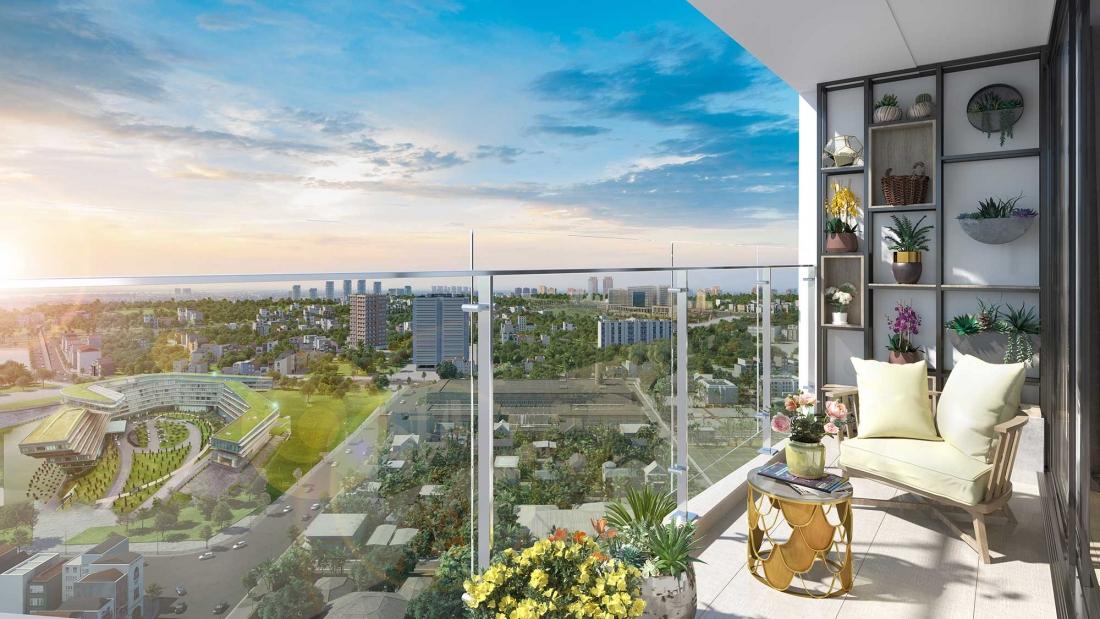 view căn hộ cao tầng